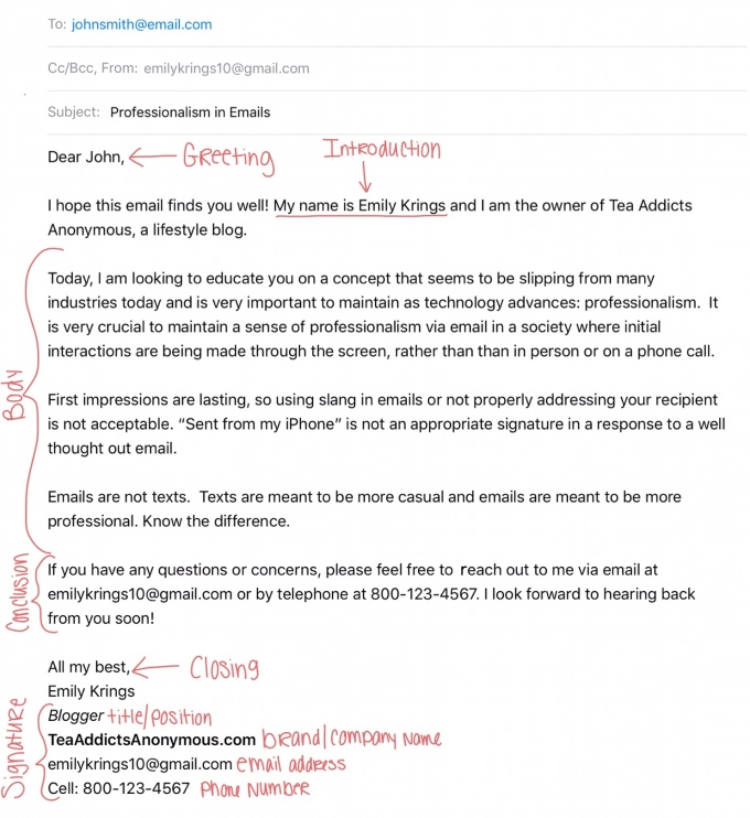 Email writing samples | professional email example |