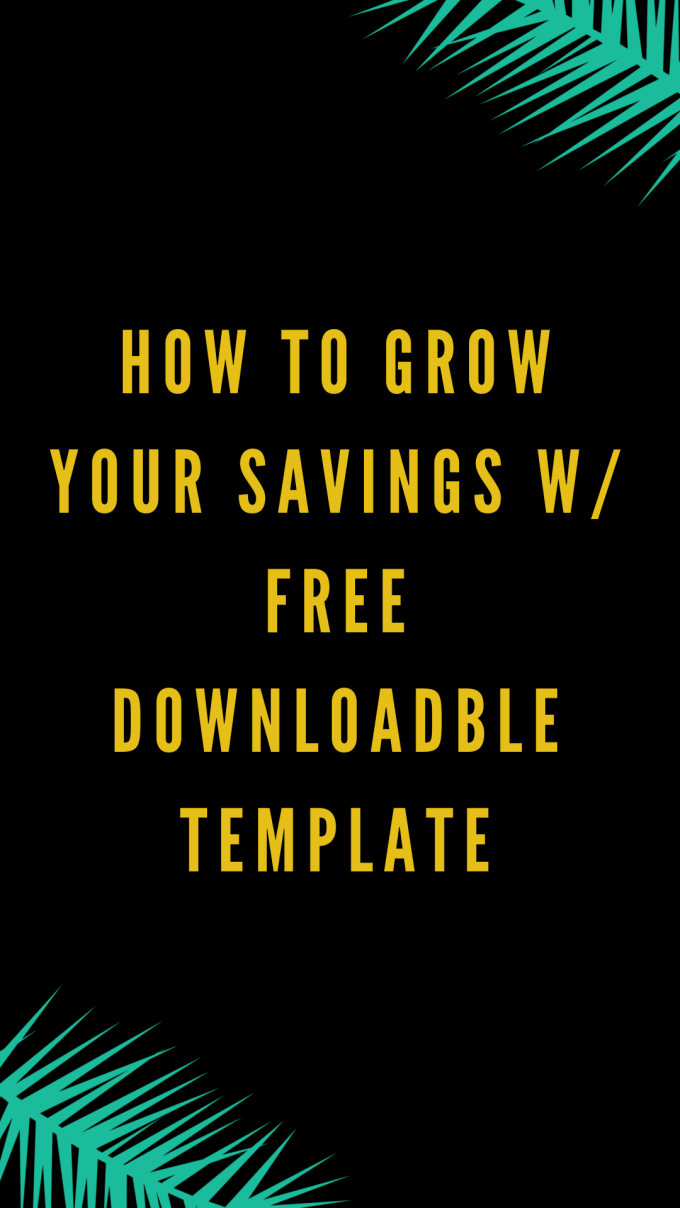 Free Downloadable Savings Plan Template | Tea Addicts Anonymous